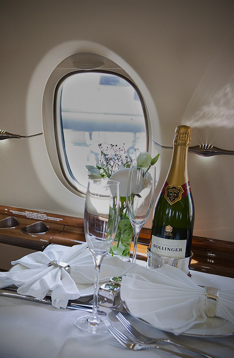 drinks on private jets
