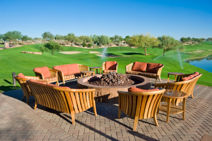 Golf course patio furniture