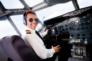 Pilot in cabin