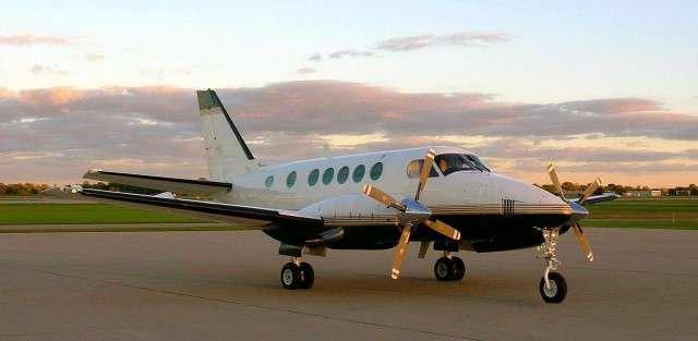 King Air 100 charter plane