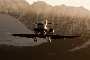 Charter Challenger 300 landing