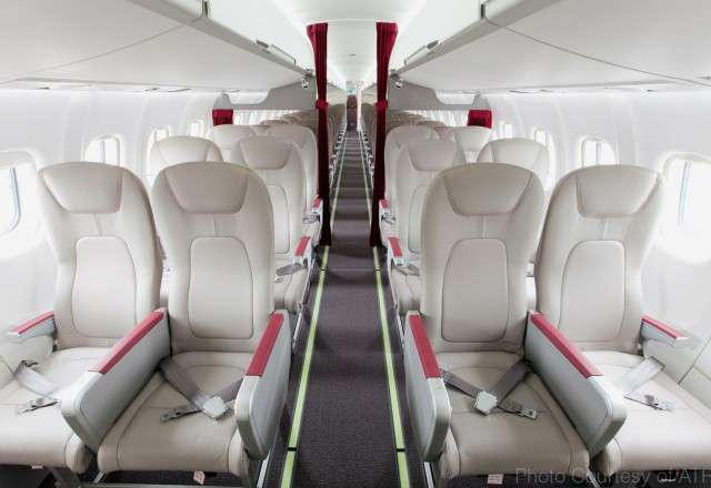 Charter Jet with 100 first class seats