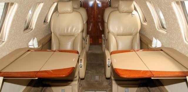 Cessna 550B Citation II interior
