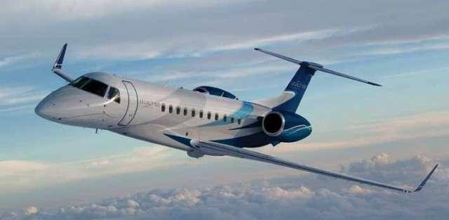 Legacy 650 jet charter flights