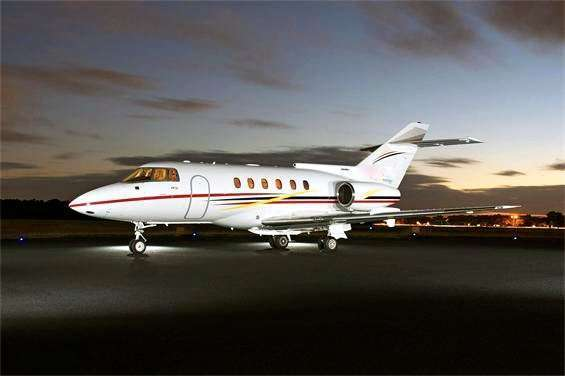 Book hawker 800 Private Jet