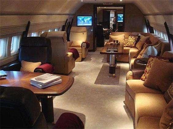Private planes boeing-interior