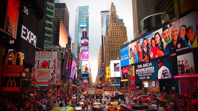 private jet charters to New York Times Square