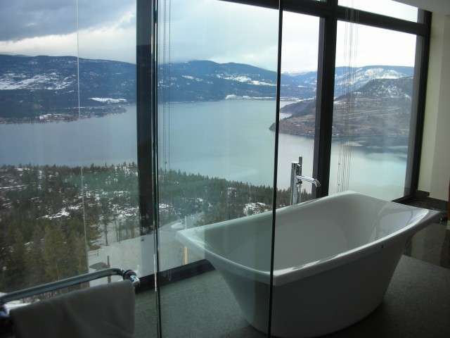 Sparkling Hill Resort, in the heart of BC', offers a luxurious retreat after a day of heli-skiing.