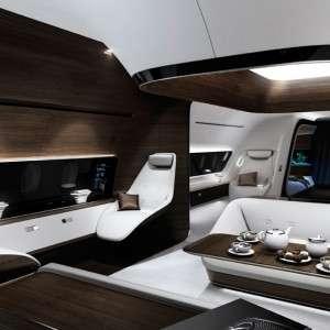 Luxury Jet Charter Flights Mercedes interior