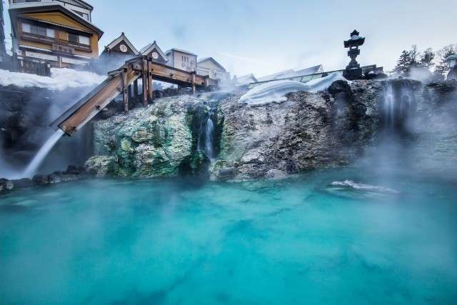 Kusatsu Onsen is one of Japan's most popular hot spring resorts, making it a favorite resort destination for travelers on private flights.
