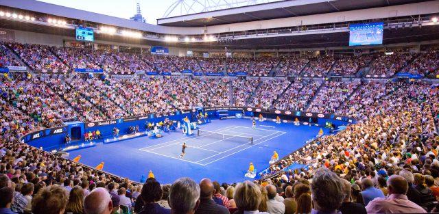 Tennis open in Australia private jet