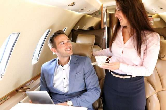 Corporate jet travel