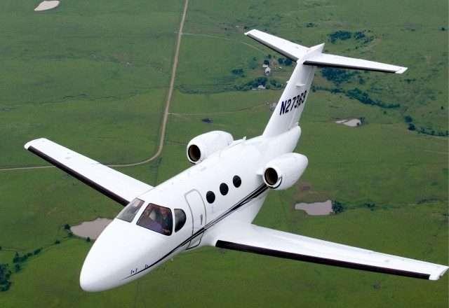 Cessna Citation Mustang in flight