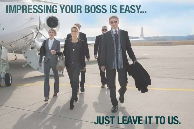 booking a private jet for your boss