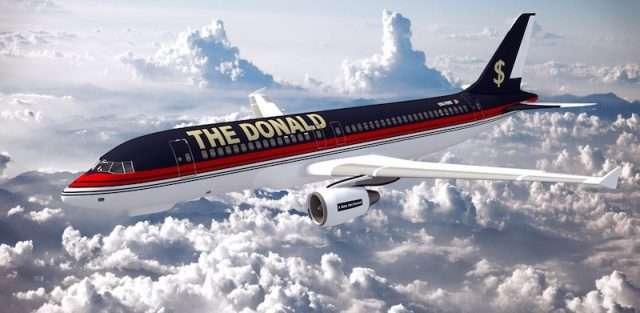 charter flights to Palm Beach Donald Trump