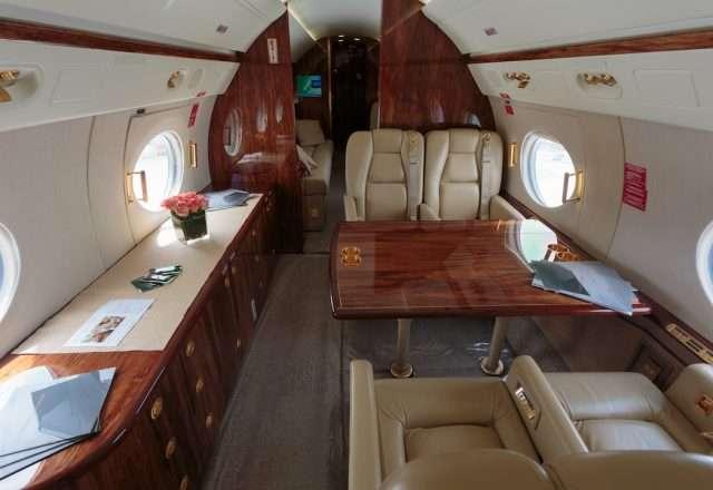 Gulfstream G550 Jet Interior