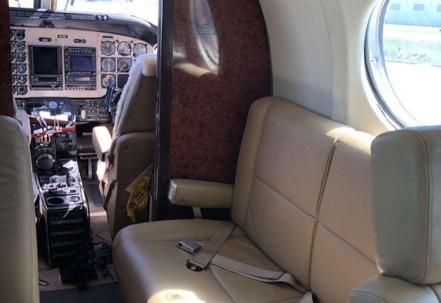 King Air 100 Cabin
