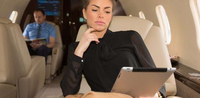business jet charters offering inflight wifi