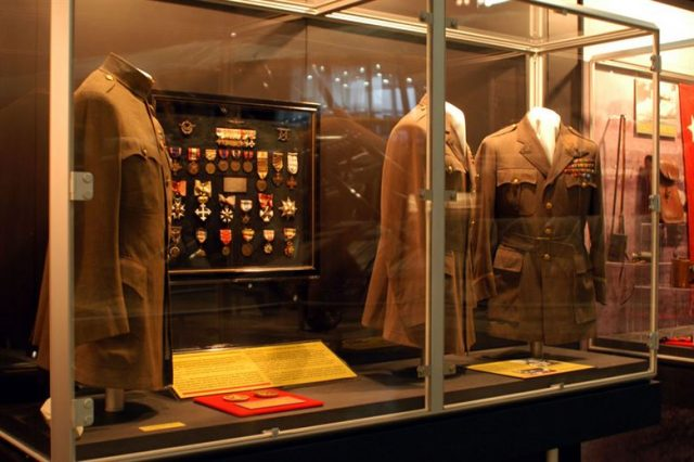 General Mitchell's uniform at the Mitchell Gallery of Flight