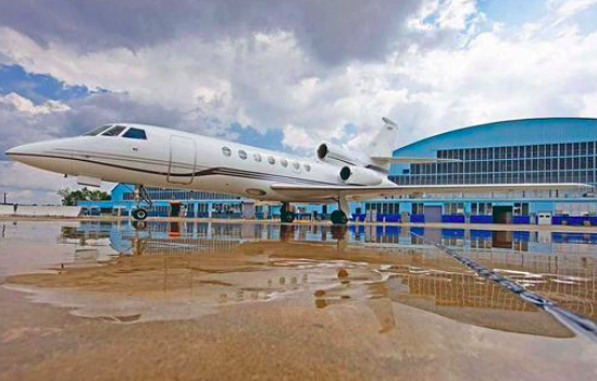 falcon 50 is popular for private jet charters
