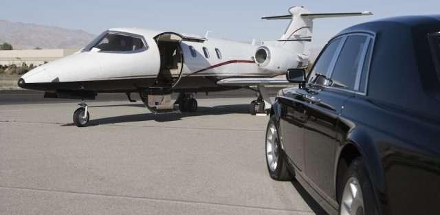 private jet rental on tarmac